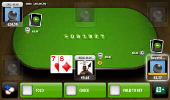 a Screenshot of the unibet App for android