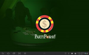 Android Splash Screen of the PartyPoker-App